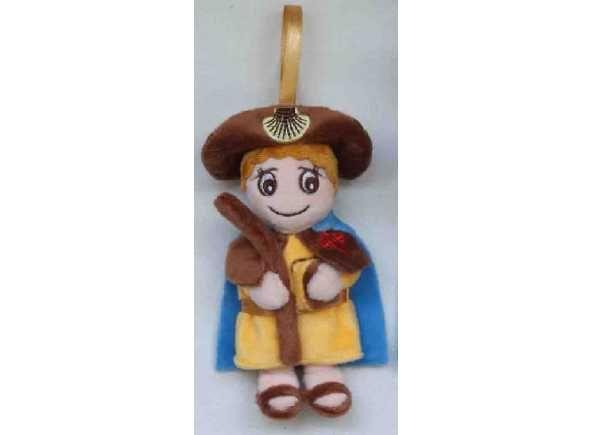 Colgante recuerdo Mi Santiago Peregrino. Recuerdos del Camino de Santiago / Stuffed doll hanging pilgrim Saint James. Way of Saint James hanging cuddly toy. http://www.articulosreligiososbrabander.es/_blog/peluche-jesusito-vida-oracion-imagenes-navidad-regalo.html #EtapasCaminodeSantiago #Conchavieira #ConchaPeregrino #SaintJamesWay #TheWay #ElCamino