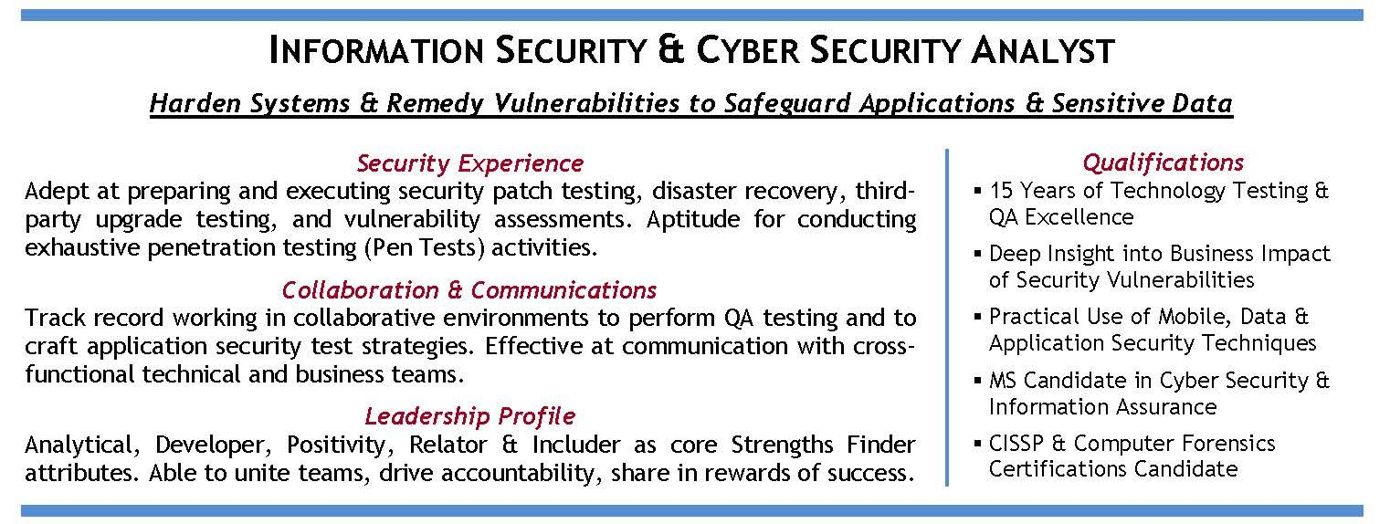 Information and Cyber Security Specialist (in CA