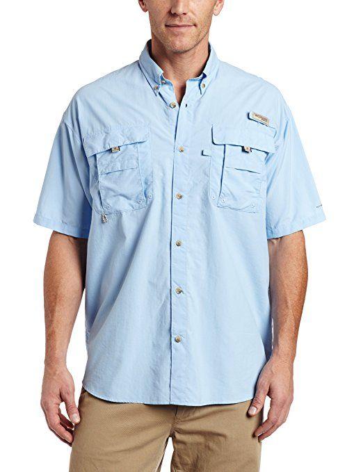 Columbia Men's Bahama II Short Sleeve Shirt, SAIL, Medium