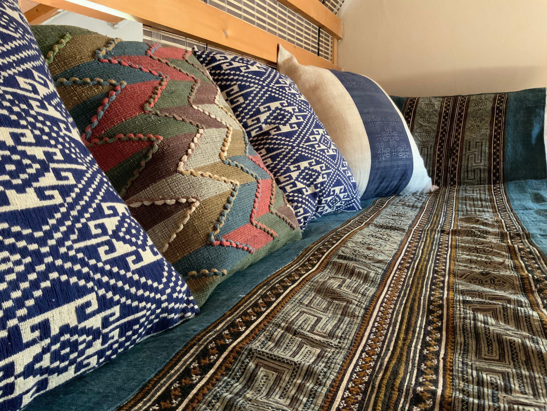 Set Cuscini.Set Di Due Ikat Cuscino Coprire Laotiano Cuscino Cuscino Tribale