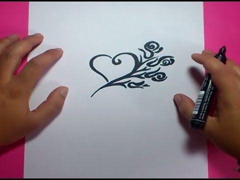 Como Dibujar Un Corazon Paso A Paso 5 How To Draw A Heart 5 Youtube Como Dibujar Como Hacer Dibujos Corazones