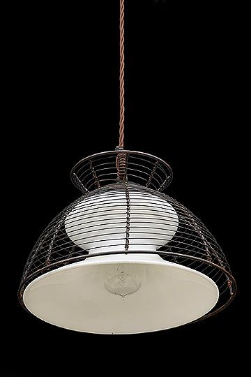 "Amazing Antique Italian Opaline Pendant with Protective Cage Origin Italy Circa 1940 Dimensions Width 10 50"" Height 8 50"" In 2019 - Minimalist lighting protection Awesome"