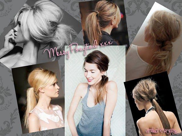#Hair - the #messy #ponytail #DIY thanks to @Joanna Goddard