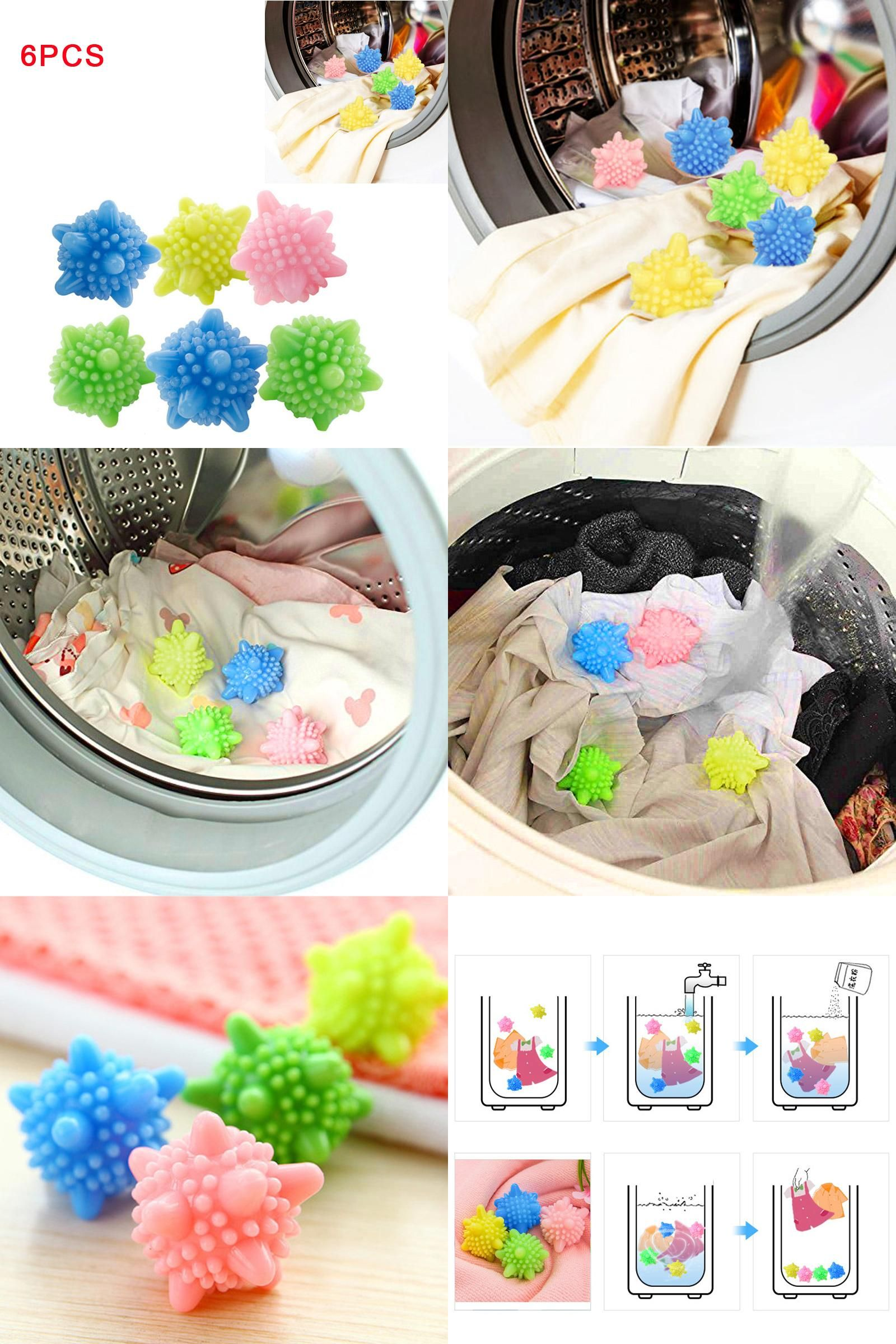 Visit To Buy 6pcs Colored Detergent Winding Preventing Cleaning