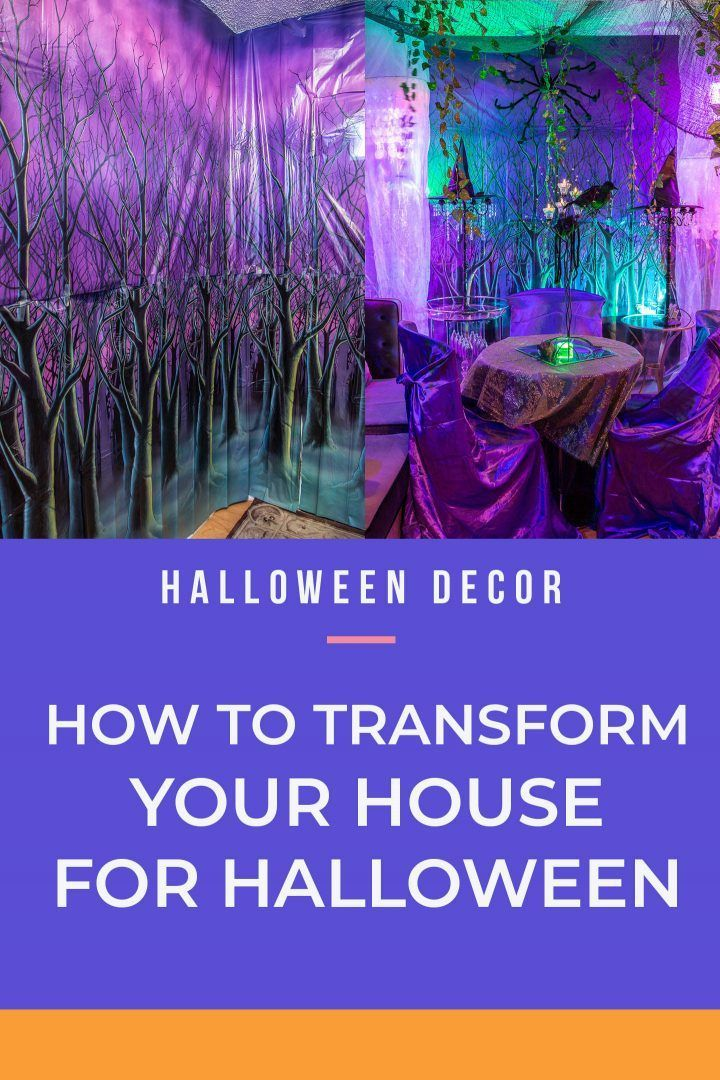 This is a GREAT idea for turning my house into a haunted mansion! I love what a big difference it makes! I have never used scene setters before, but I will definitely by trying it for my Halloween party! #halloweenobsession #halloween #halloweendecor #hauntedhouse #diyhalloween #halloweenindoordecor