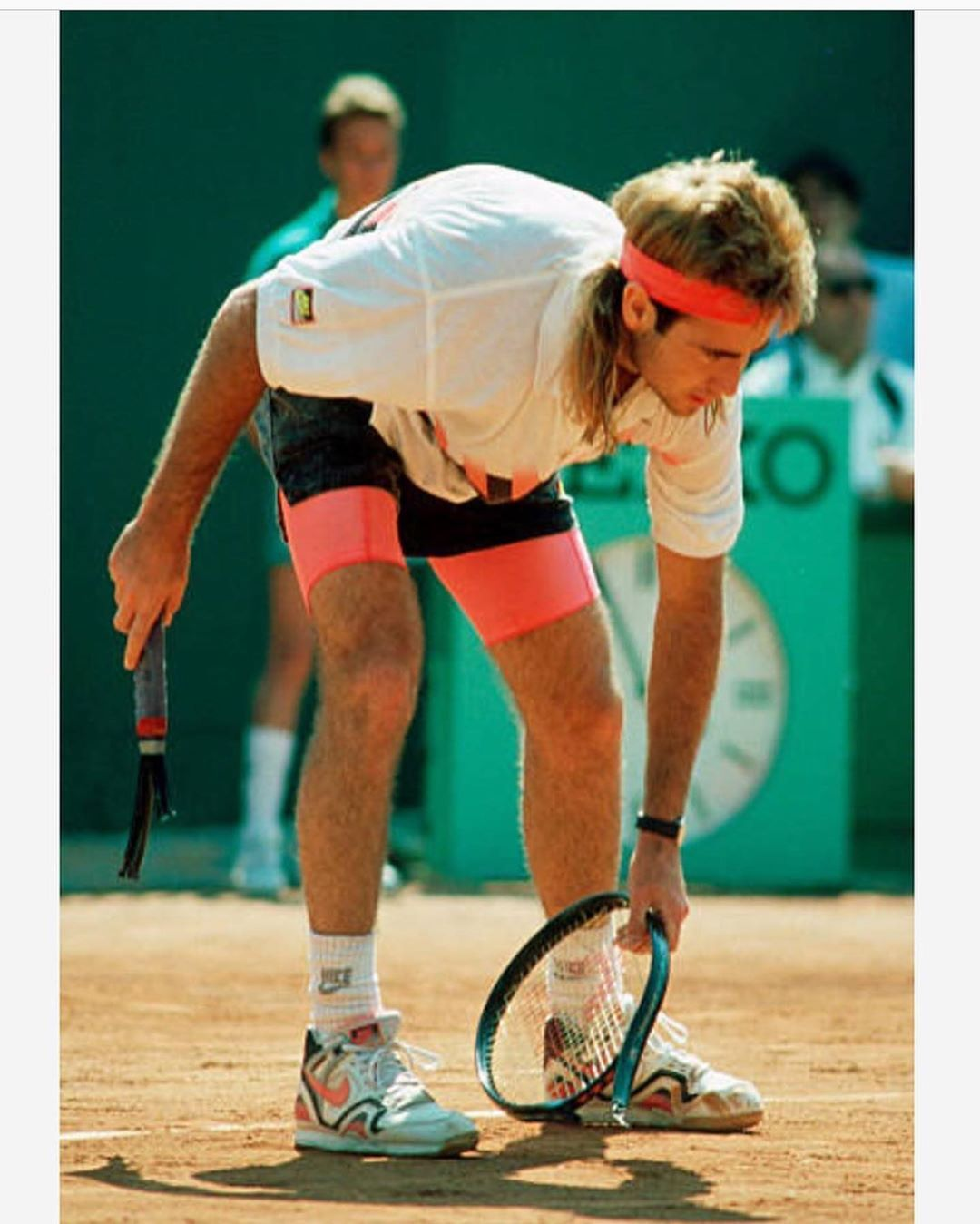 Andre Agassi wearing Nike Air Tech