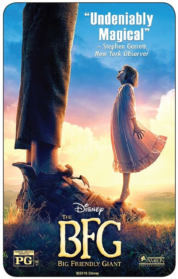 Own The BFG on Digital HD, Blu-ray or Disney Movies Anywhere! Enter to win a copy of The BFG on Digital HD for your next family movie night. Sponsored