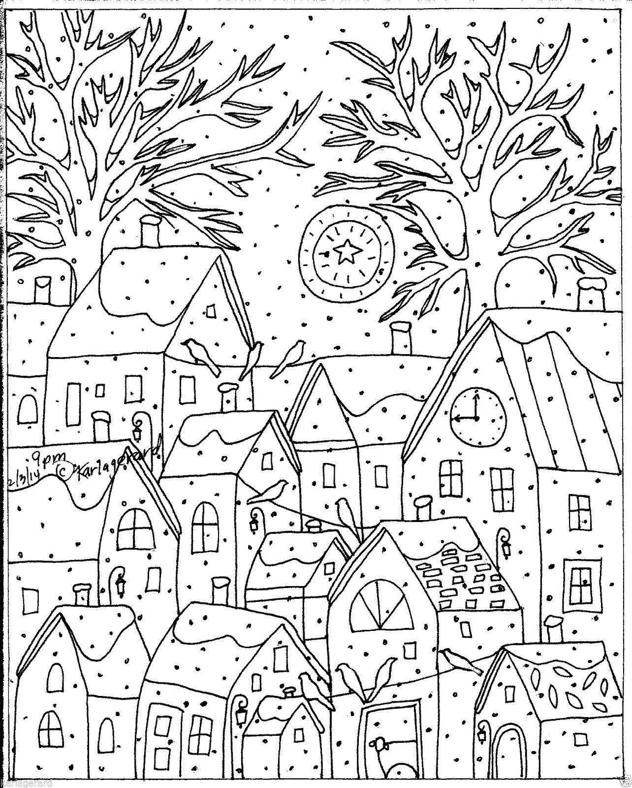 Rug Hook Craft Paper Pattern 9 Pm Folk Art Primitive Abstract Karla Gerard