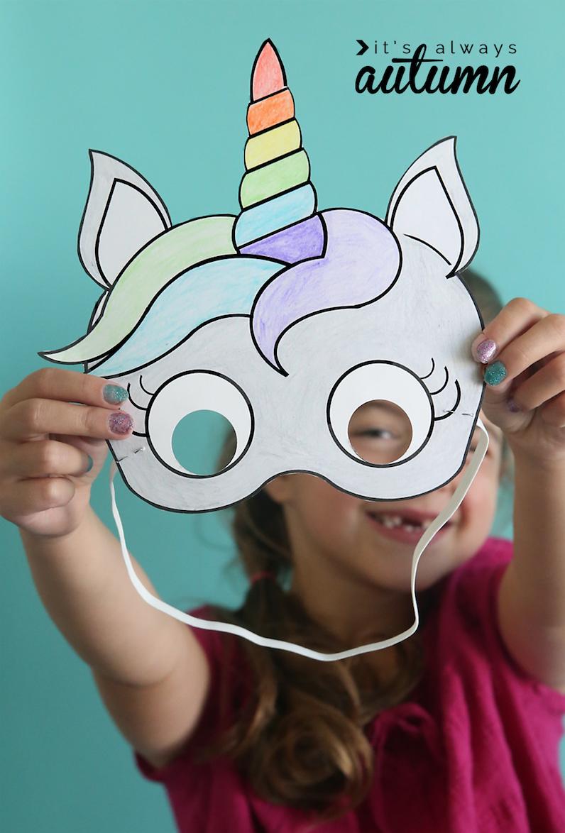 Gratis Download Eenhoorn Masker Unicorns Pinterest Unicorn