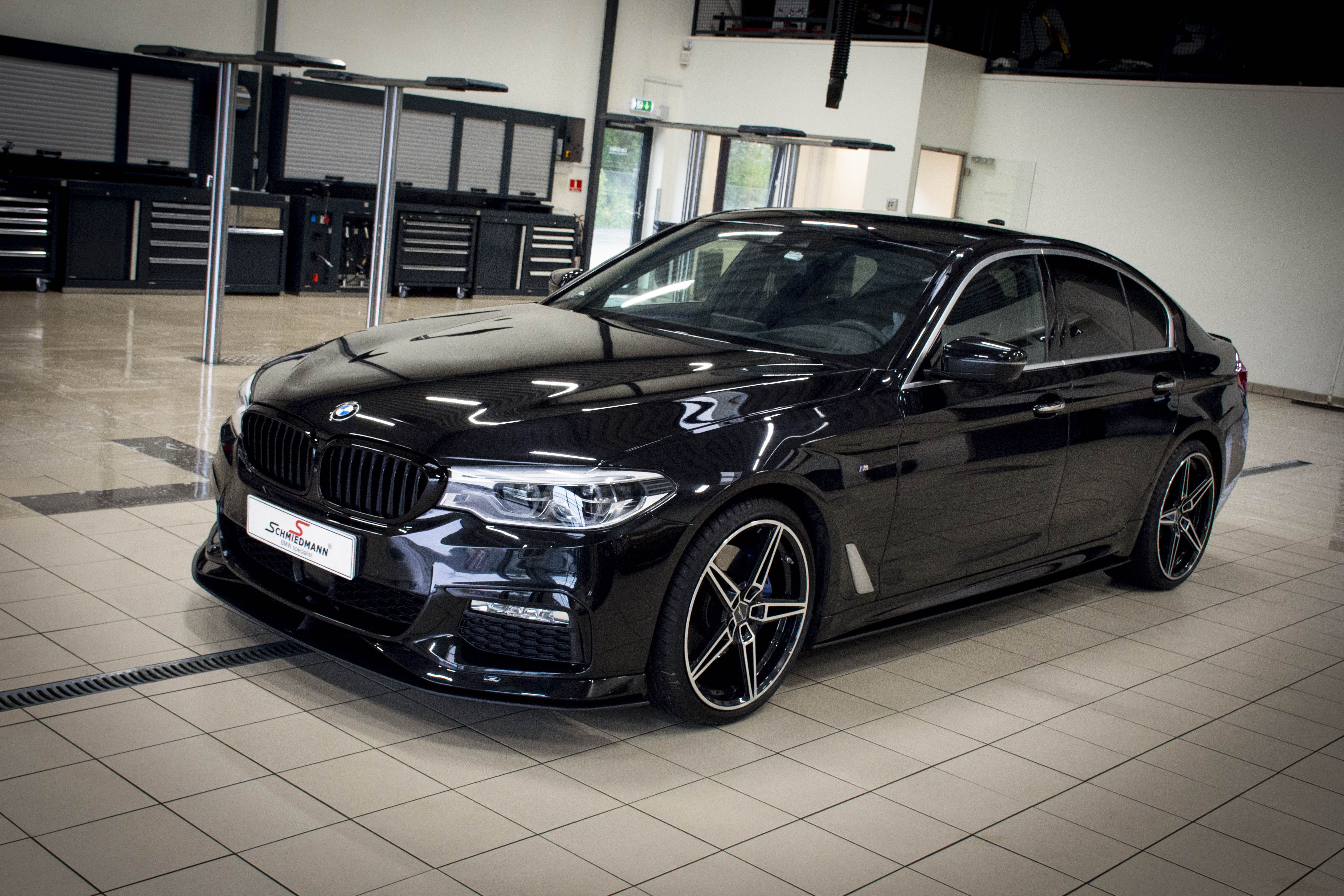 f25e2a312141 The final result of the black 5 series BMW G30 530D B57 car from 2017.