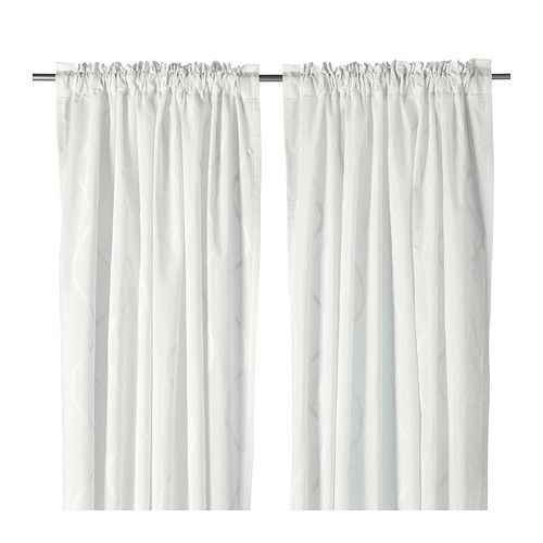 HILLMARI Curtains, 1 pair, white | Window, Lights and Room