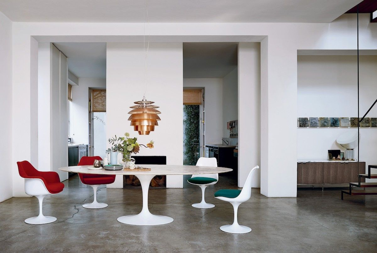 Designlieblinge Tulip Chair von Eero Saarinen Esstisch