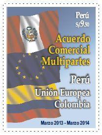 Acuerdo comercial #Perú #Colombia #Europa | #Filatelia #Philately
