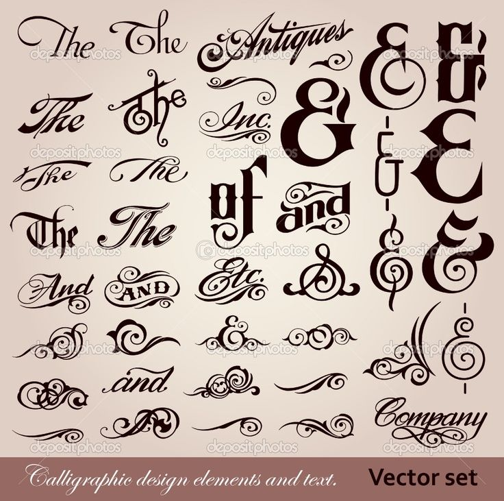 Calligraphy font vector design