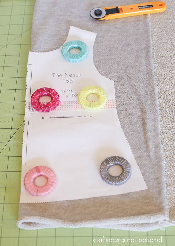 Sewing Pattern Weights Made Out Of Covered Metal Washers From Your