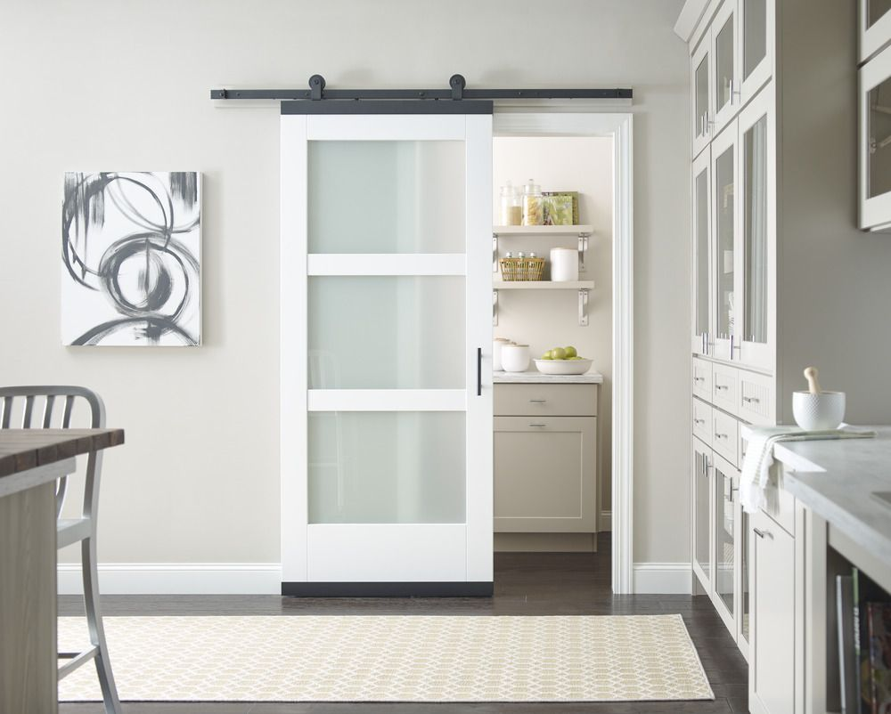 When Floor Space And Clearance Are Restricted Sliding Doors Are A Smart Solution Here A Contemporar Barn Doors Sliding Doors Interior Door Hardware Interior