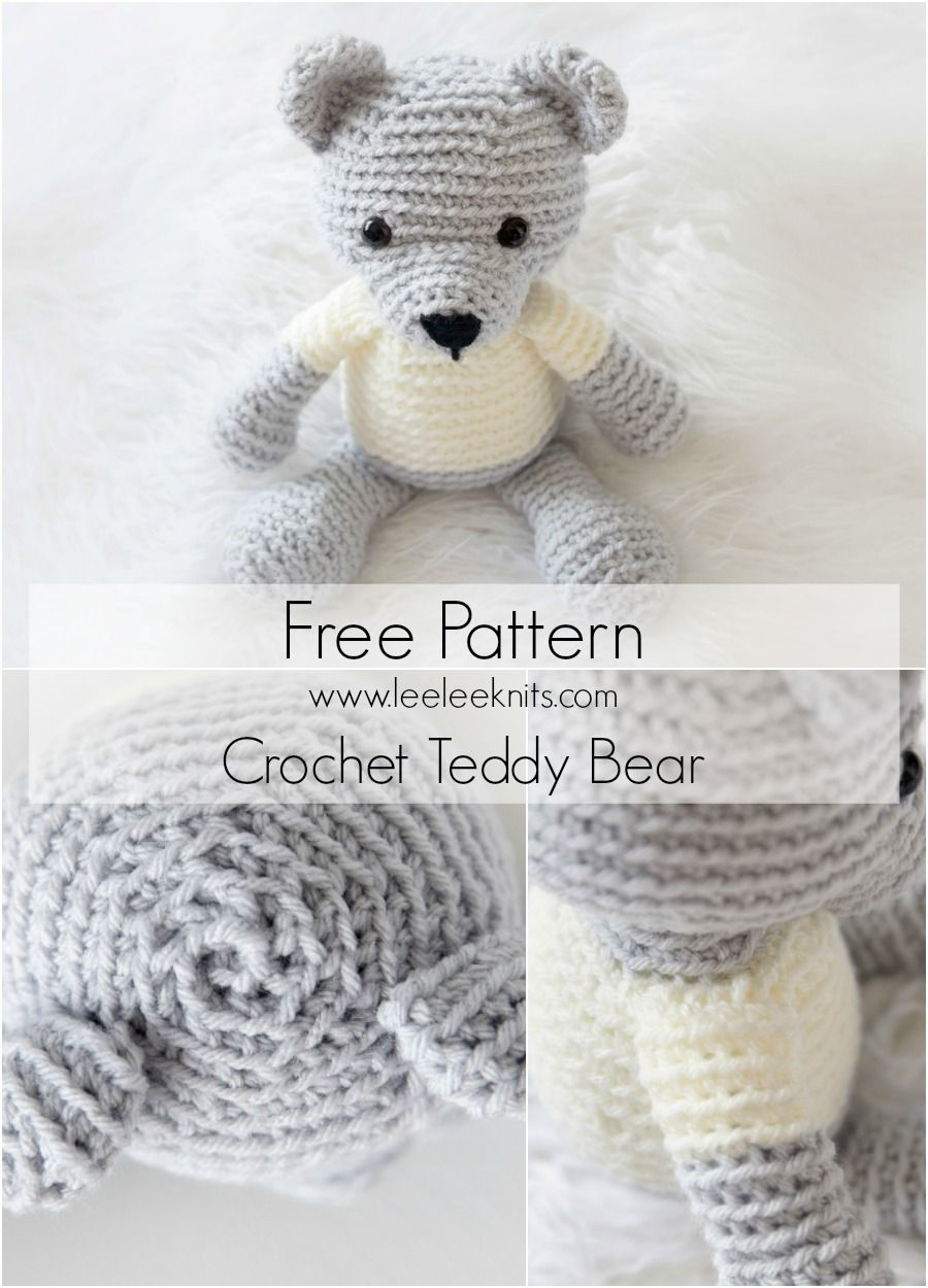 Crochet Teddy Bear - Free Pattern! | Amigurumi4 | Pinterest ...