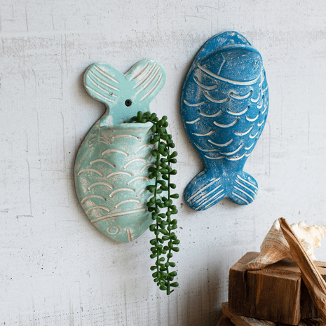 Cape Town Fish Wall Planters Set Of 2 Clay Crafts Ceramics Projects Pottery Handbuilding