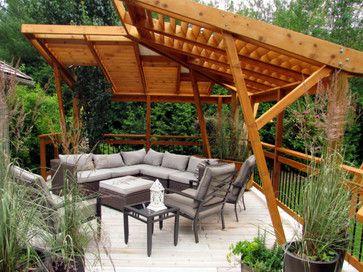 Decks With Contemporary Pergolas Cedar Deck Cantilevered Pergola Contemporary Deck Patio Shade Patio Pergola