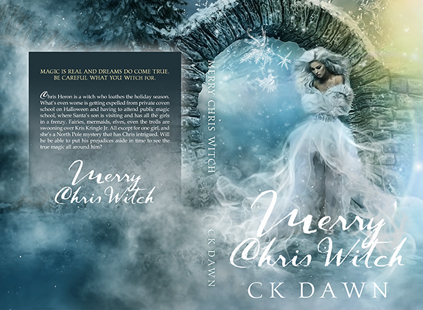 "Cover for author CK Dawn's ""Merry Chris Witch"". Now available in print and…"