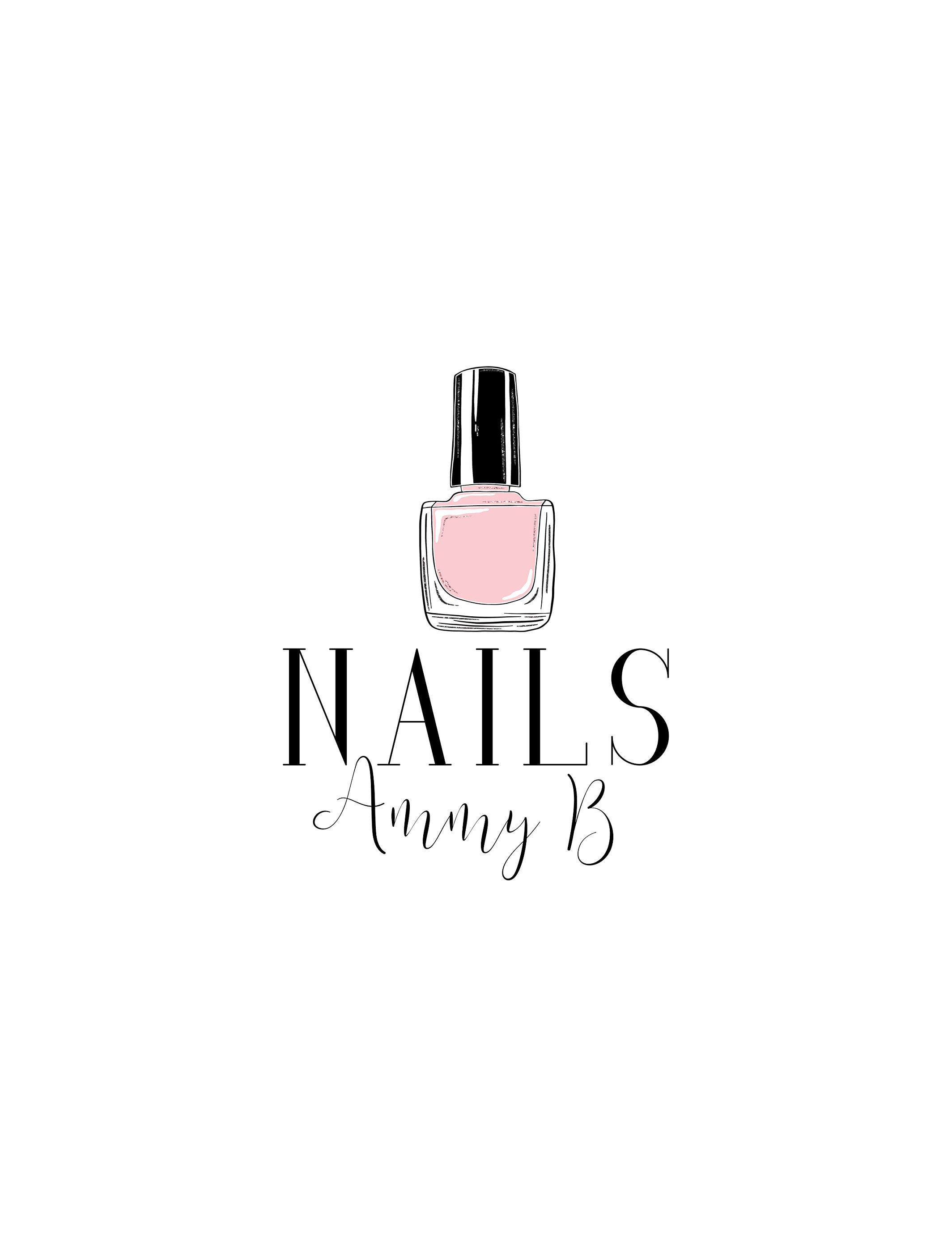 Nail Salon Logo, Nails Logo, Nail Technician Logo, Nail