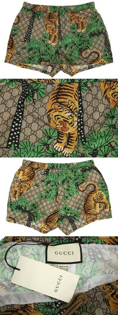 8851d99945240 Swimwear 15690: New Gucci Men S Current Tiger Print Nylon Swim Wear Trunks  Beach Shorts 50 -> BUY IT NOW ONLY: $499.99 on eBay!