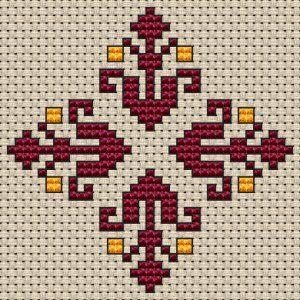 Small Decorative Motif free cross stitch pattern from Alita Designs