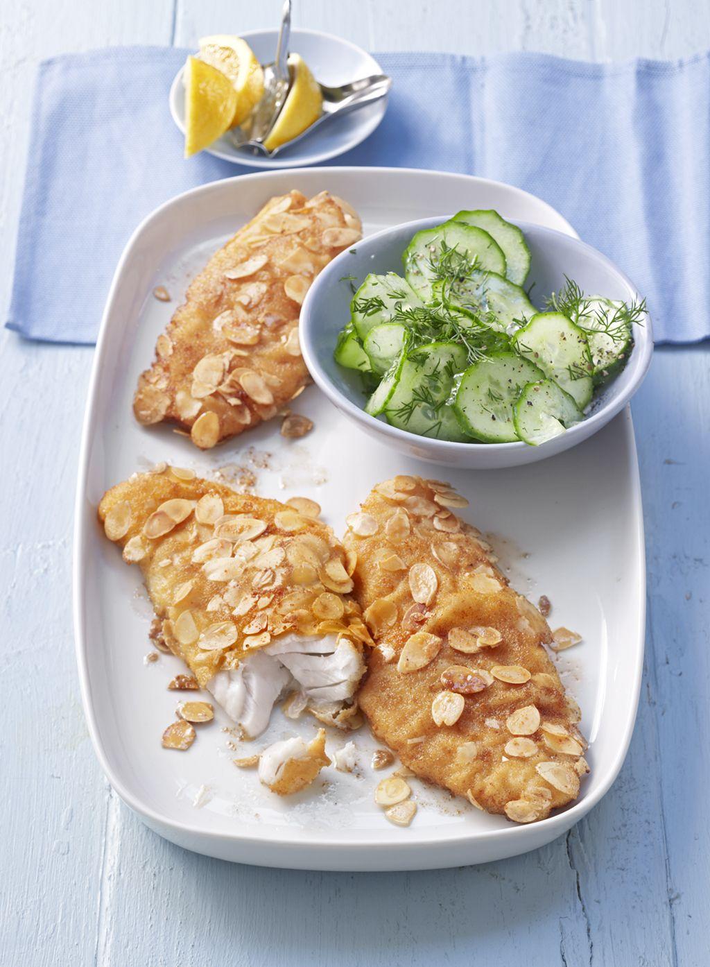 Rotbarschfilet mit Ei - Mandel - Kruste #easyshrimprecipes