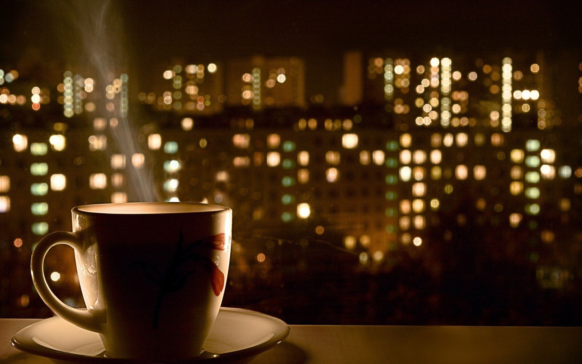 Night Time Coffee Wallpaper » WallDevil - Best free HD desktop and mobile wallpapers
