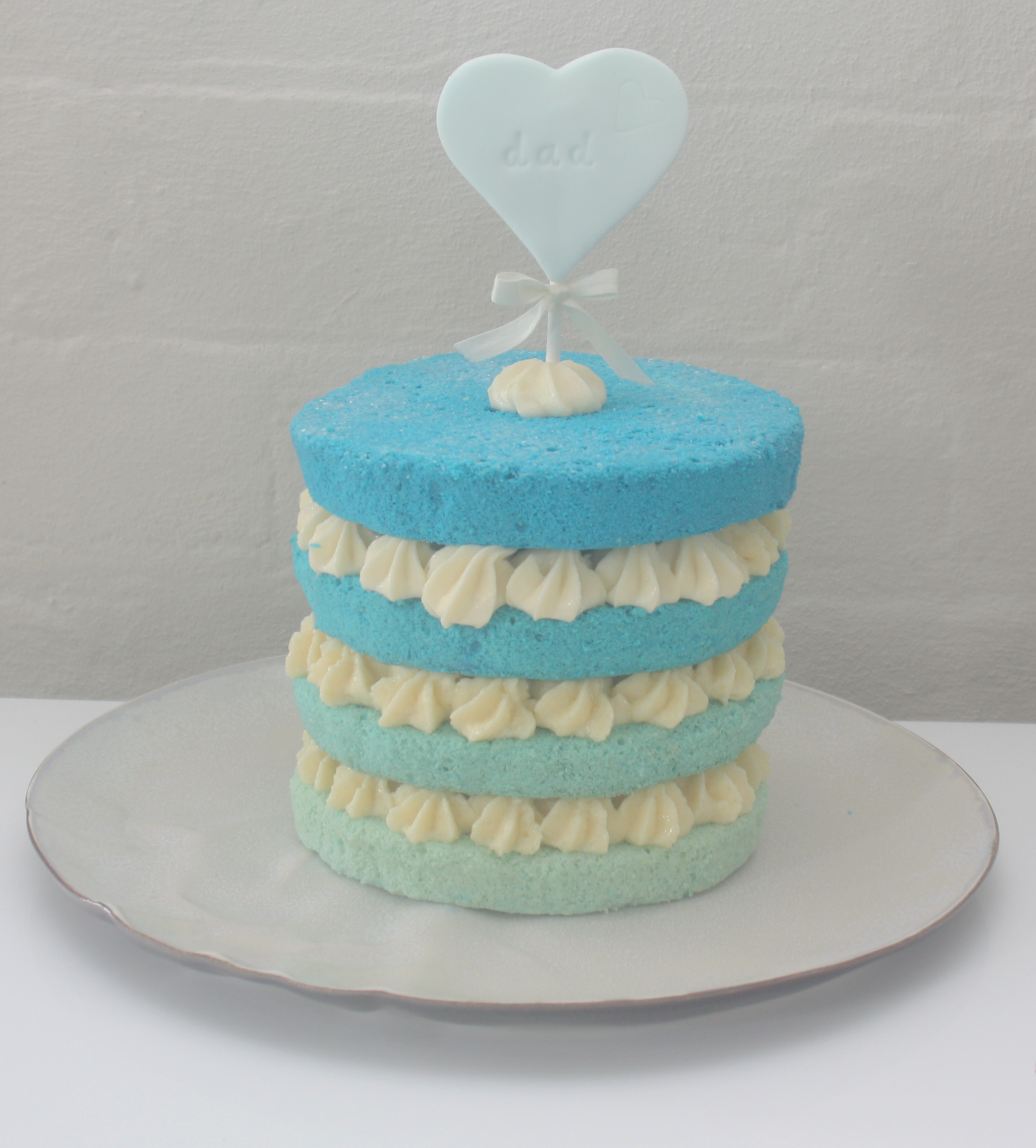 Loving my naked ombre cake. Perfect if you are not in love with fondant.  This cake is vanilla + honey buttercream.  Yummmm!