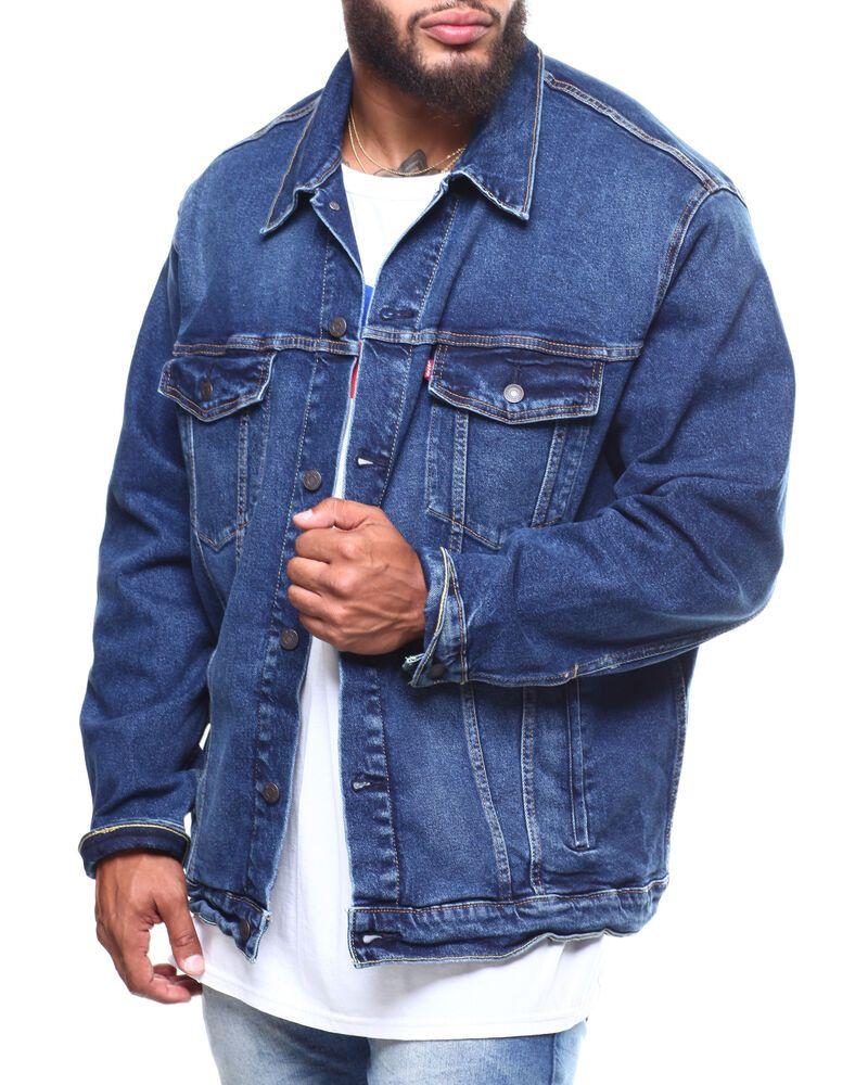 Levi S Sz 2xl Xxl Mens 07158 Cloud Dark Blue Denim Classic Trucker Jean Jacket Levis Jeanjacket Jackets Trucker Jacket Mens Jackets [ 1000 x 800 Pixel ]