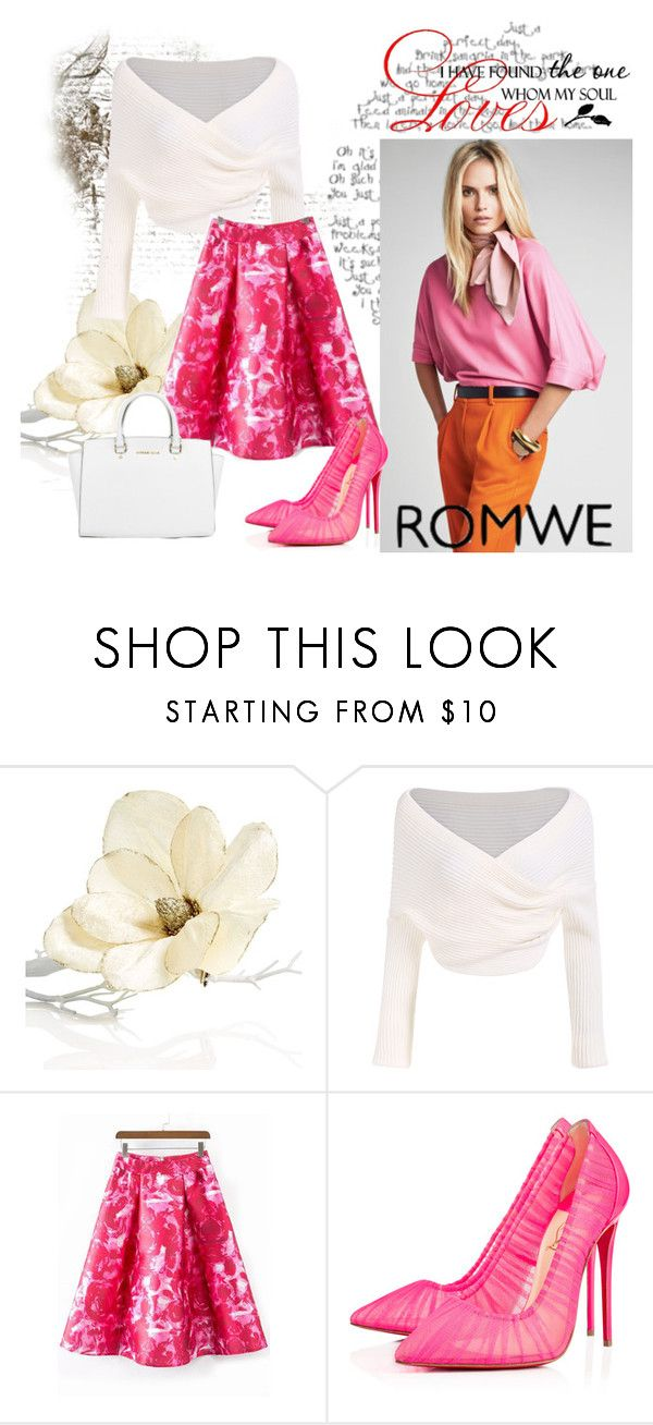 """""""Romwe (1)  5"""" by aida-1999 ❤ liked on Polyvore featuring Holiday Lane, Christian Louboutin and Michael Kors"""