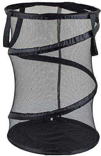 Greenco, Heavy Duty, Space Saver, Folding Pop-up Portable Mesh Laundry Hamper, High Capacity and Super Lightweight (Black)