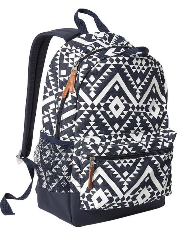 Old Navy Girls Patterned Backpacks Size One Size - Chambray print ...