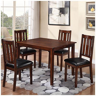"5-piece pub dining set at big lots.table: 36"" x 48"" x 30"" $299"