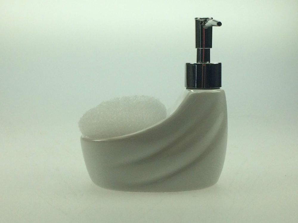 Practical Soap Dispenser With Sponge Holder Everyday Pump In Rhpinterest: Kitchen Soap Dispenser With Sponge Holder At Home Improvement Advice