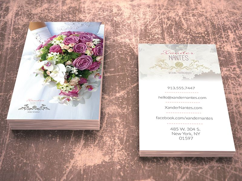 Wedding Photographer Business Card V Photoshop PSD Template - Business card template photoshop psd