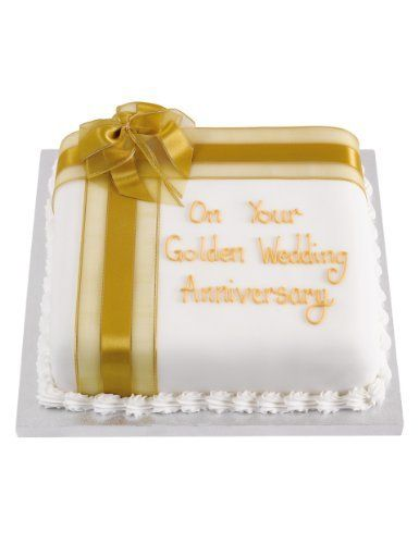 Personalised Celebration Sponge Cake With Gold Ribbon Serves 30 M S Birthday Cakes For Men Celebration Cakes Anniversary Cake