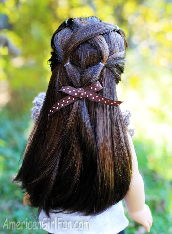 hair styles for girl doll hairstyle criss cross ponytail veil 7714 | f86cfaf0b6a0641e6f9be29ab3ecf5a8