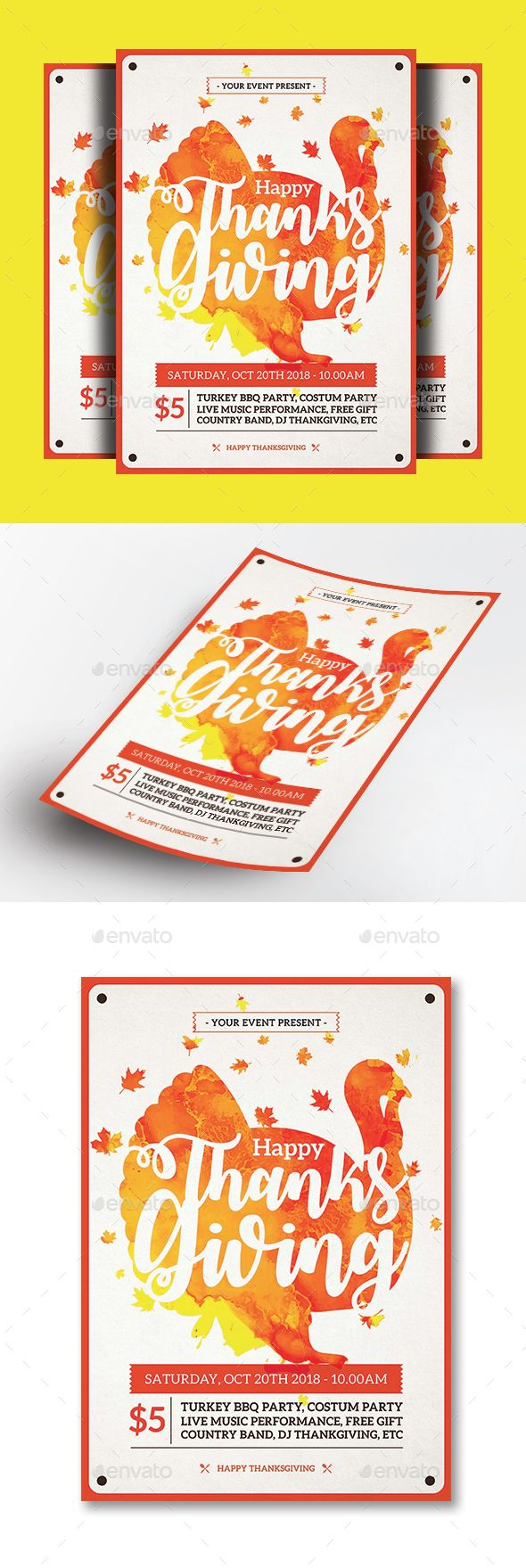 Thanksgiving Flyer Template Psd Ai Illustrator Download Here
