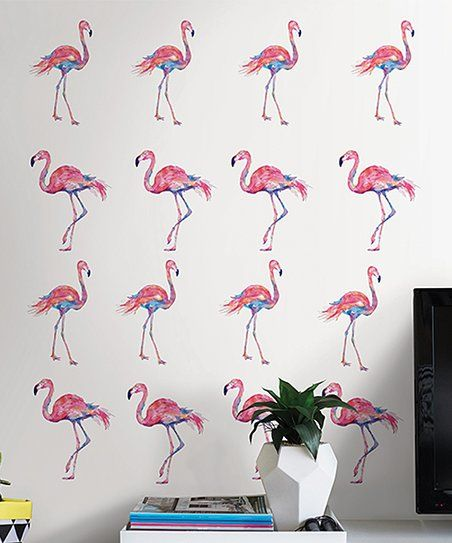 Artistic Stairs Canada: Brewster Home Fashions Pink Flamingo Decal Set