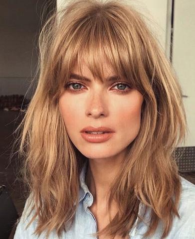 Corte de cabello con flequillo 2018
