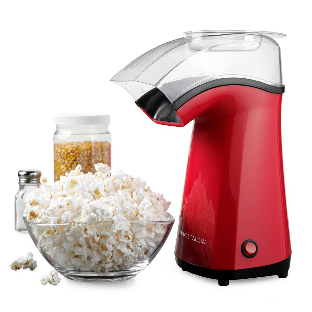 Nostalgia Air Pop Hot Air 4 Oz Red Countertop Popcorn Machine