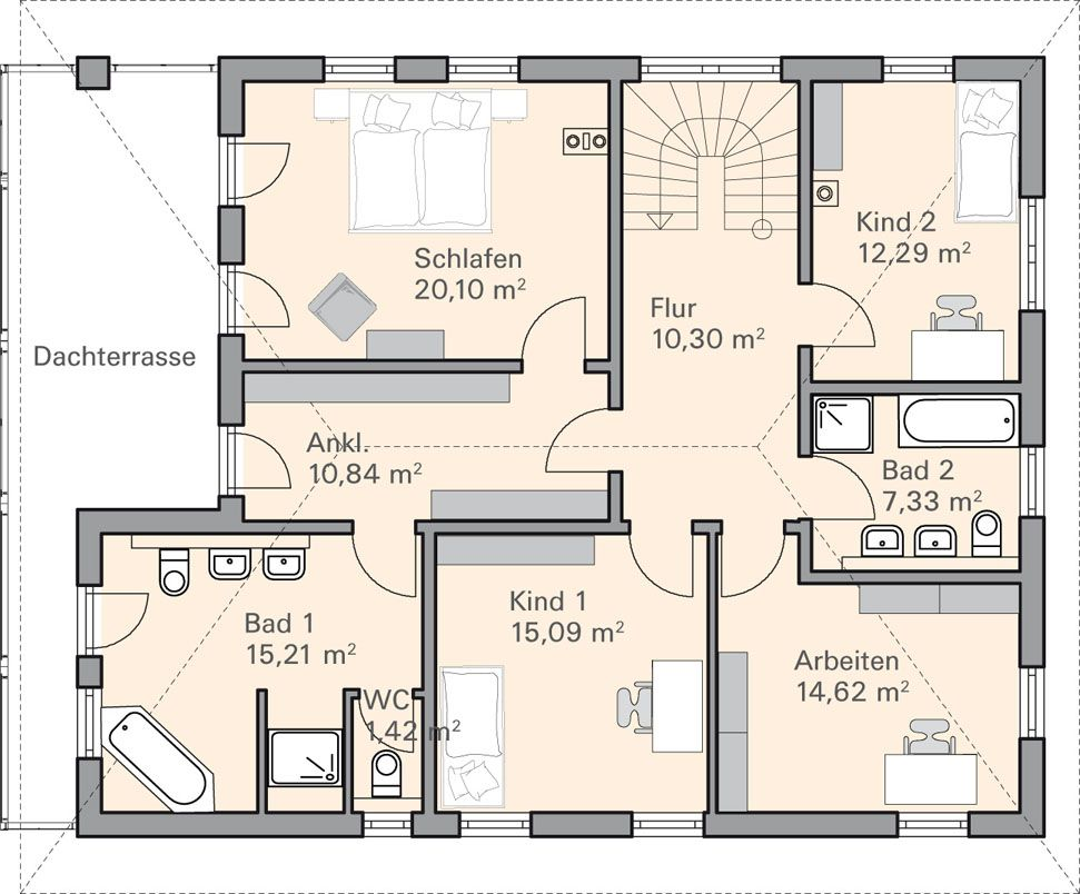 Berger Massivhaus grundriss og berger traumhaus haus house and interiors