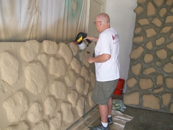 Carving foam to create walls and other objects props