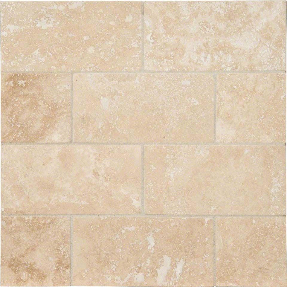 travertine 3x6 honed and beveled tile
