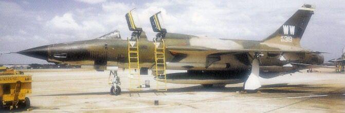 USAF Republic F-104G Thunderchief Wild Weasel from the 561st TFS, Korat Royal Thai Air Force Base. Circa 1972-73.