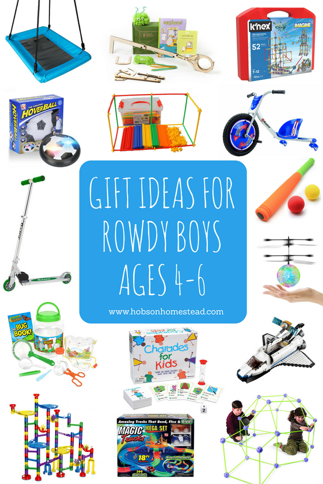15 Gift Ideas for Rowdy Boys, Ages 4-6 | 4 year old boy ...