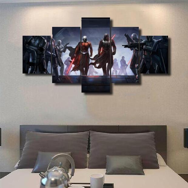 Darth Haul And Kylo Ren 5 Panel Star Wars Canvas Art Panelwallart Com Living Room Canvas Painting Star Wars Canvas Painting Living Room Canvas