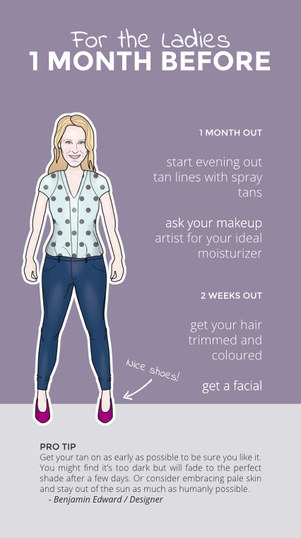 One Month Before Your Wedding You Should Start Evening Out Tan Lines Instead Of